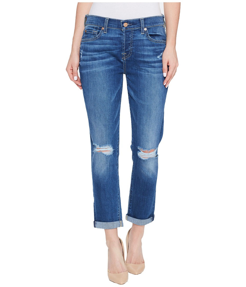 7 For All Mankind - Josefina Jeans w/ Knee Holes in Bella Heritage 2