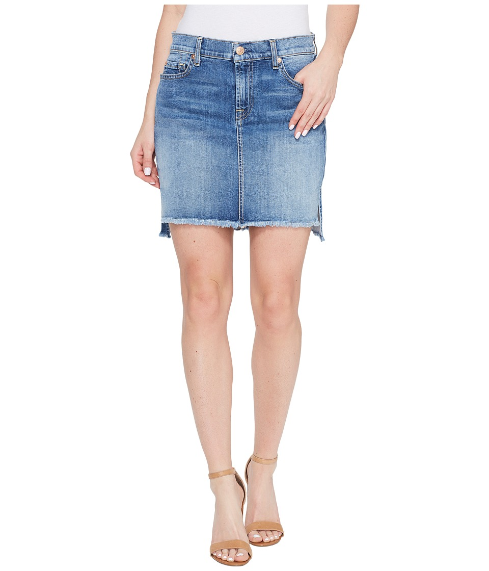7 For All Mankind - Pencil Skirt w/ Step Hem in Vintage Air Classic