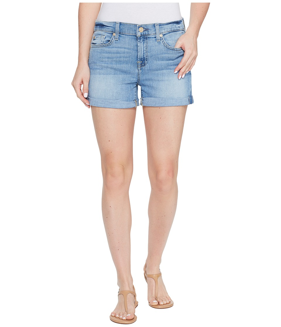 7 For All Mankind - Squiggle Roll Up Shorts in Willow Ridge
