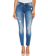 7 For All Mankind - Ankle Skinny Jeans w/ Destroy in Radient Pier