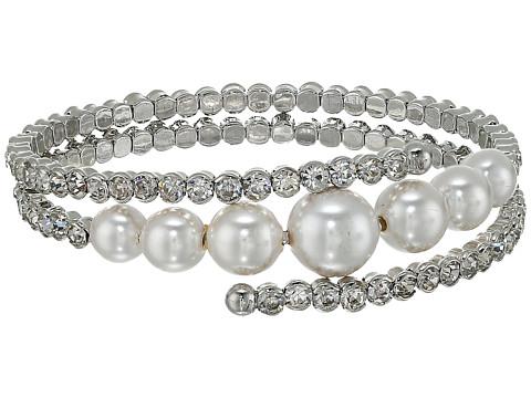 Nina Konya Bracelet - Rhodium/Ivory Pearl/White