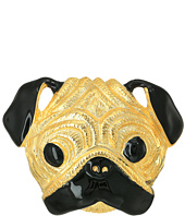 Kenneth Jay Lane - Gold/Black Pug Pin