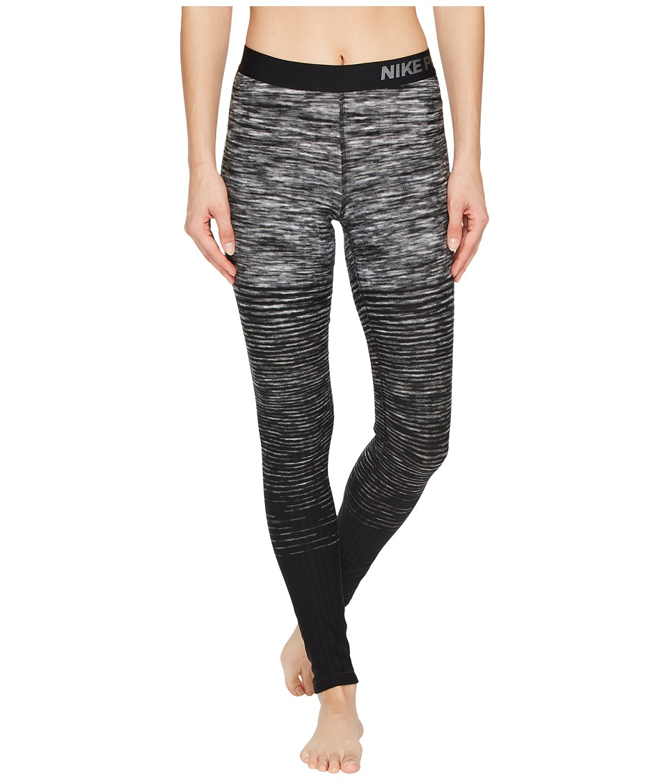 Nike Pro Hyperwarm Stripe Training Tight (Dark Grey/Black) Women