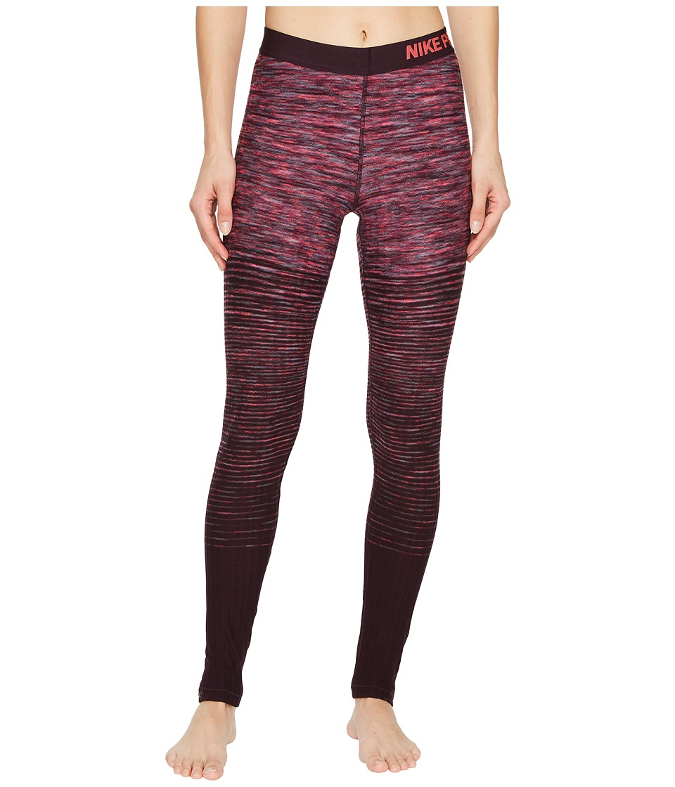 Nike Pro Hyperwarm Stripe Training Tight (Racer Pink/Racer Pink) Women