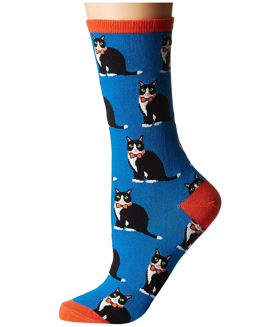 Socksmith - Tuxedo Cats (Blue) Women's Crew Cut Socks Shoes