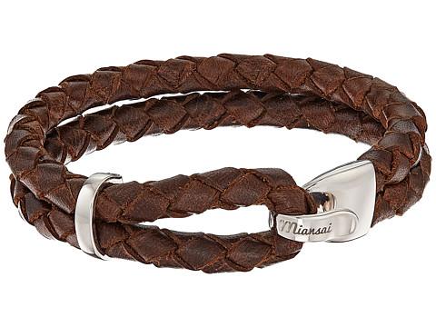 Miansai Beacon Leather Bracelet - Brown/Sterling Silver