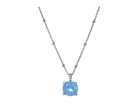 Vera Bradley Sparkling Necklace - Silver Tone/Blue Opal