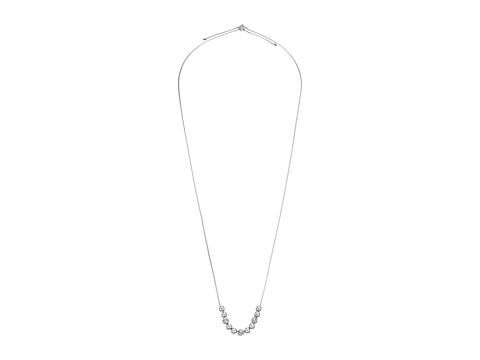 Vera Bradley Baubles Adjustable Necklace - Silver Tone/Clear