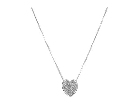 Vera Bradley Heart Bent Short Necklace - Silver Tone