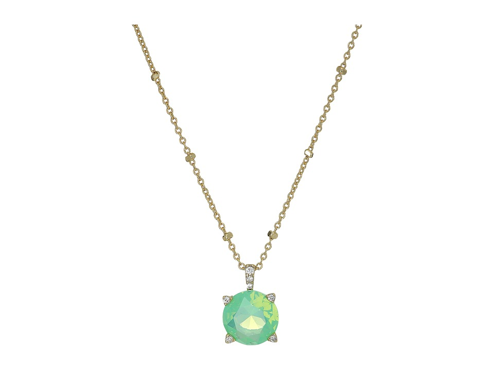 Vera Bradley - Sparkling Necklace (Gold Tone/Green Opal) Necklace