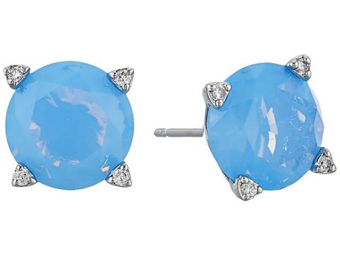 Vera Bradley Sparkling Stud Earrings - Silver Tone/Blue Opal