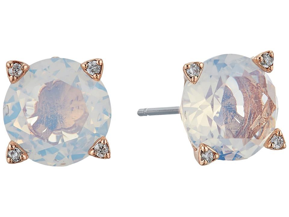 Vera Bradley - Sparkling Stud Earrings (Rose Gold Tone/White Opal) Earring