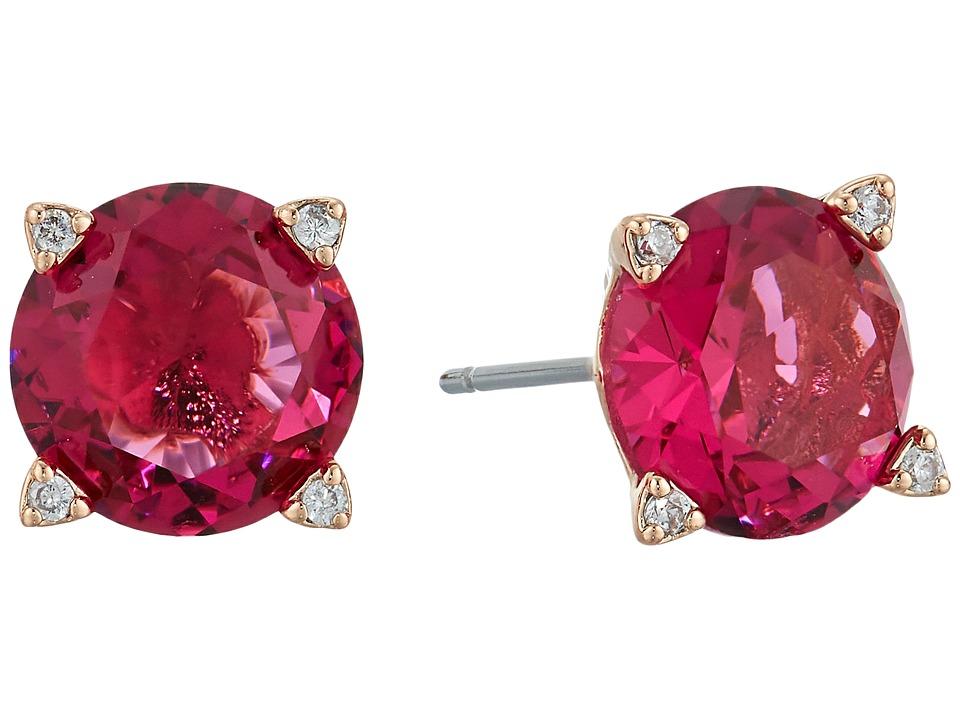 Vera Bradley - Sparkling Stud Earrings (Rose Gold Tone/Pink) Earring