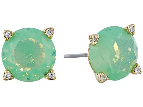Vera Bradley Sparkling Stud Earrings - Gold Tone/Green Opal