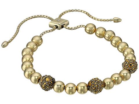 Vera Bradley Baubles Slider Bracelet - Gold Tone/Black