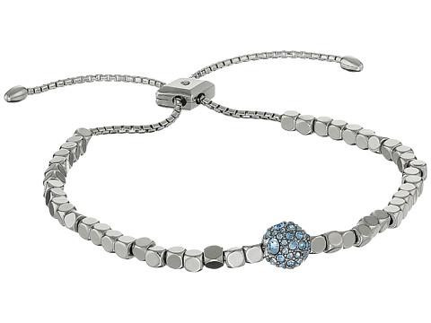 Vera Bradley Baubles Beaded Slider Bracelet - Silver Tone/Blue