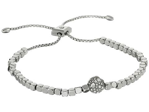 Vera Bradley Baubles Beaded Slider Bracelet - Silver Tone/Clear