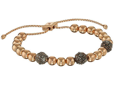 Vera Bradley Baubles Slider Bracelet - Rose Gold Tone/Clear
