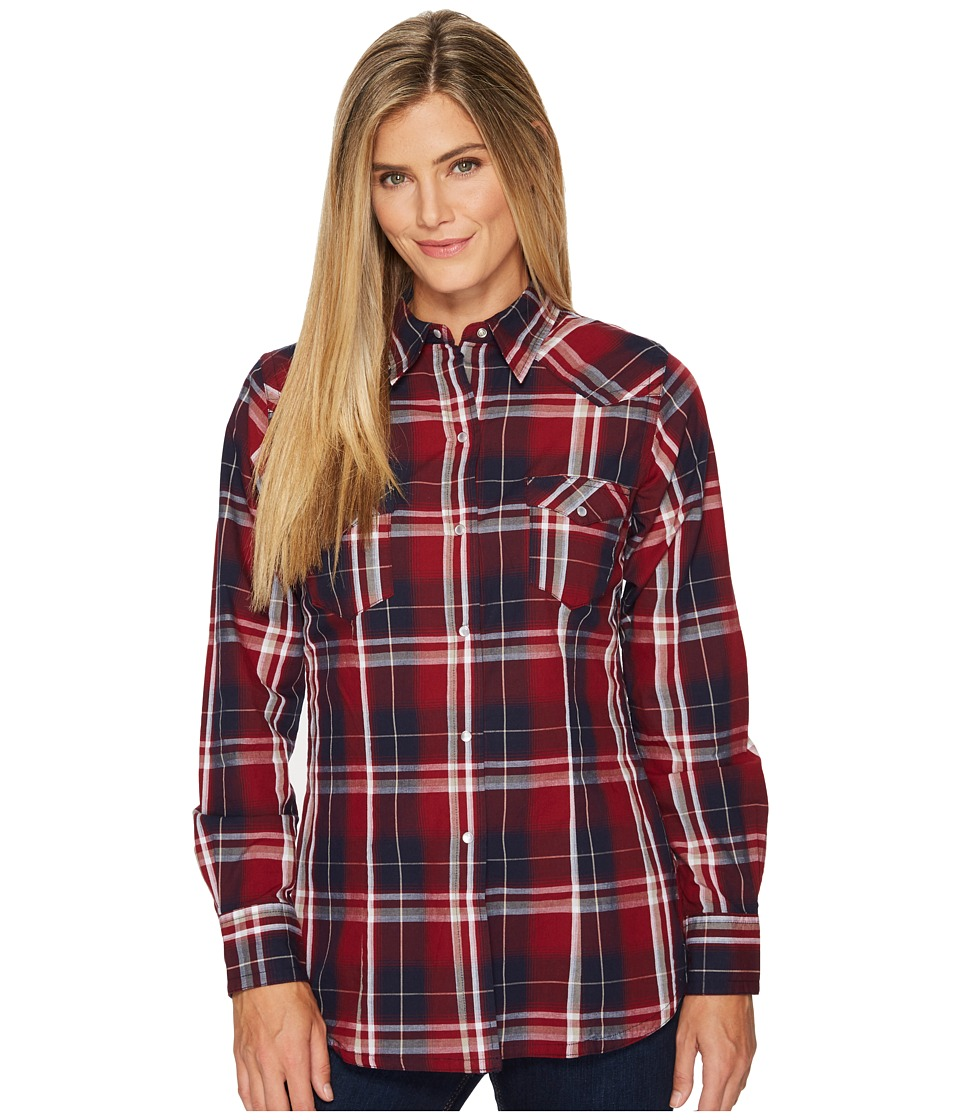 Roper 1243 Dark Indigo Plaid (Wine) Women