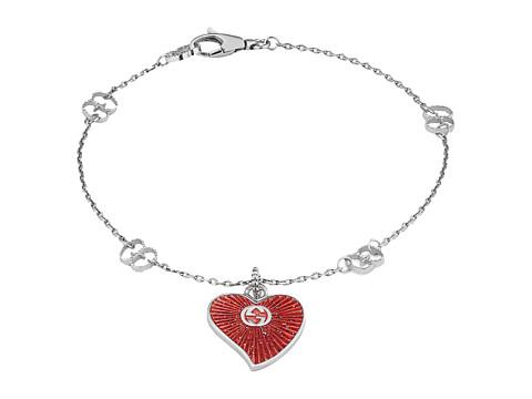 Gucci Enameled Heart Bracelet