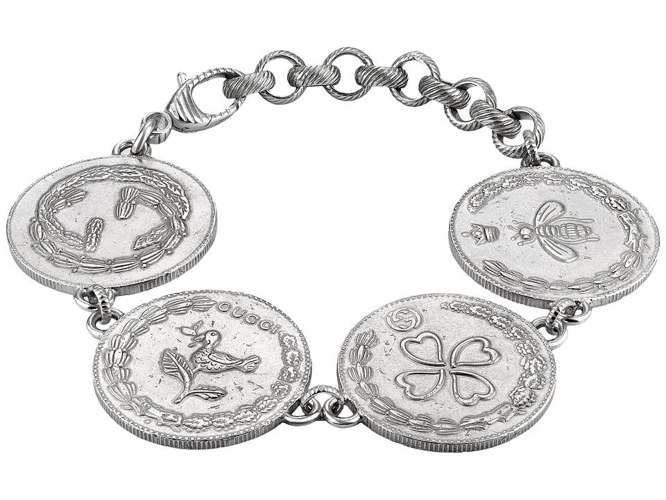 Gucci 4 Charm Coin Bracelet (Silver) Bracelet