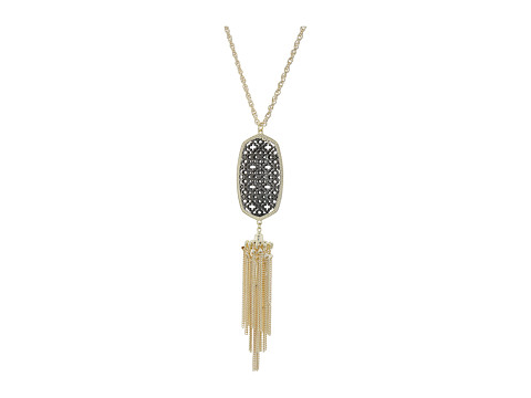 Kendra Scott Rayne Necklace - Gold/Gunmetal Filigree Mix