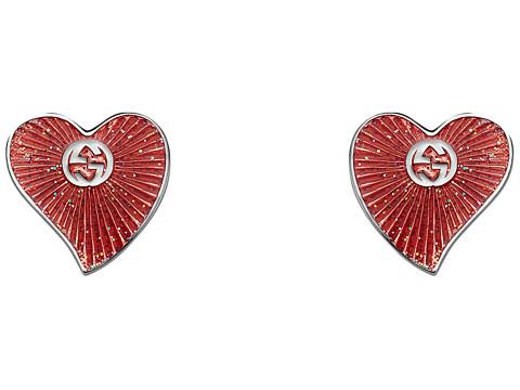 Gucci Enameled Heart Earrings