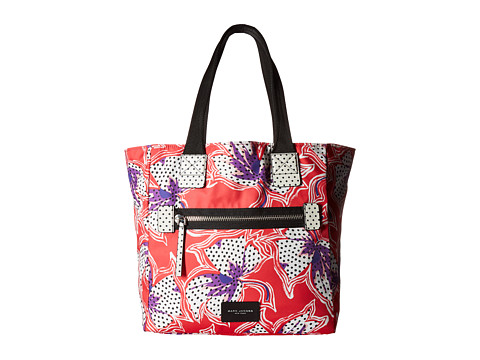 Marc Jacobs Spotted Lily Printed Biker North/South Tote - Red Multi