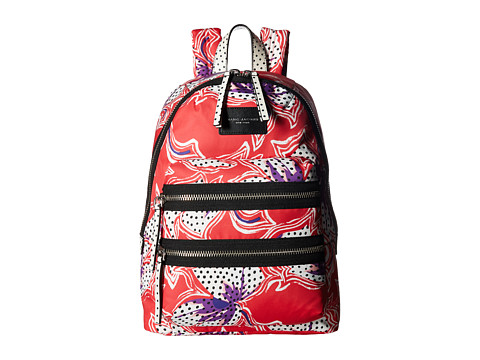 Marc Jacobs Spotted Lily Printed Biker Backpack - Red Multi