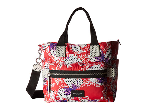 Marc Jacobs Spotted Lily Printed Biker Babybag - Red Multi