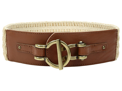 Fossil Macrame Stretch Belt