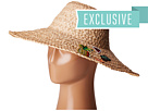 Hat Attack - Thick Braid Sun Hat w/ Cactus & Fruit Patches