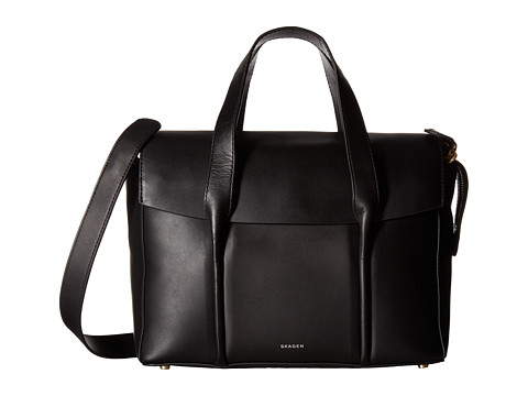 Skagen Medium Beatrix Satchel - Black