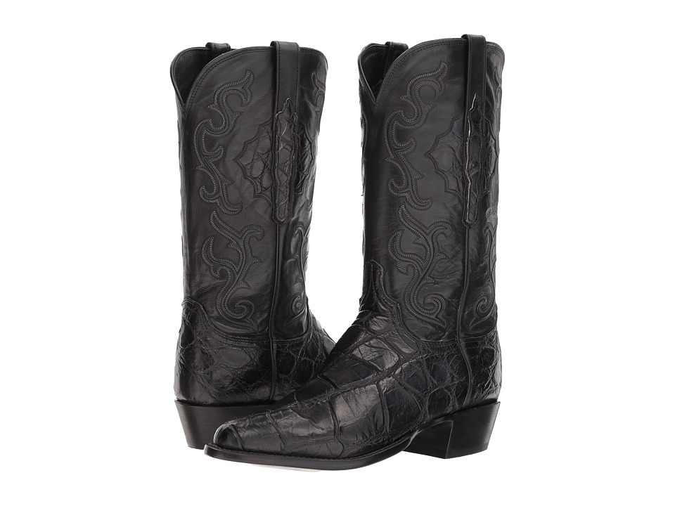 Lucchese - Ace (Black) Cowboy Boots