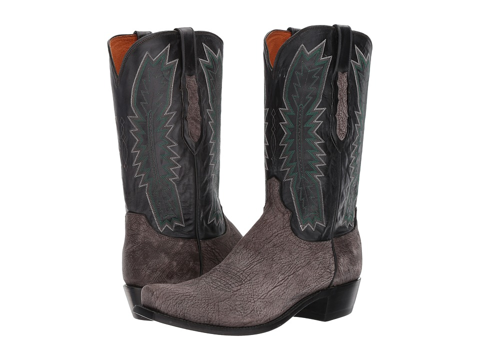 Lucchese Harrison (Charcoal) Cowboy Boots