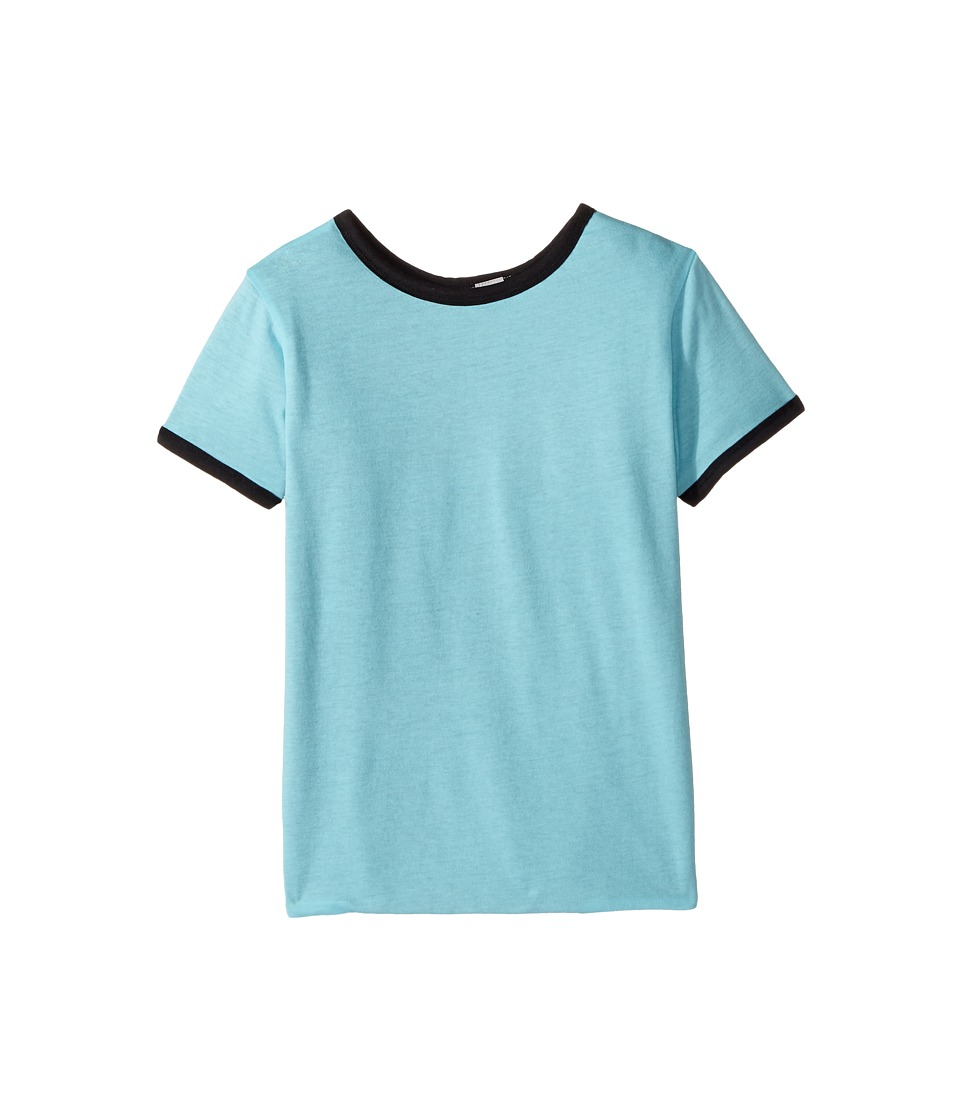 4Ward Clothing - Four-Way Reversible Short Sleeve Jersey Shirt (Little Kids/Big Kids) (Black/Sky) Boys Clothing