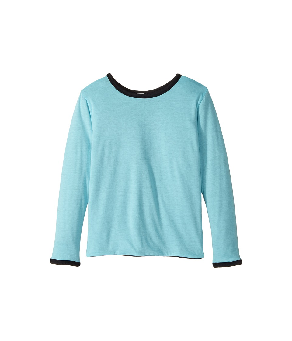 4Ward Clothing - Four-Way Reversible Long Sleeve Jersey Top (Little Kids/Big Kids) (Black/Sky) Boys Clothing