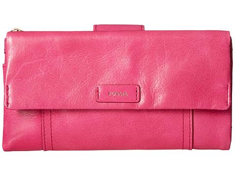 Fossil Ellis Clutch - Hot Pink