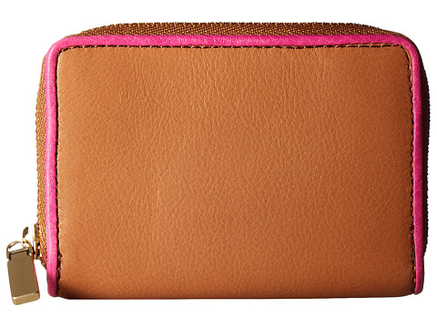 Fossil RFID Mini Zip Card Case - Tan