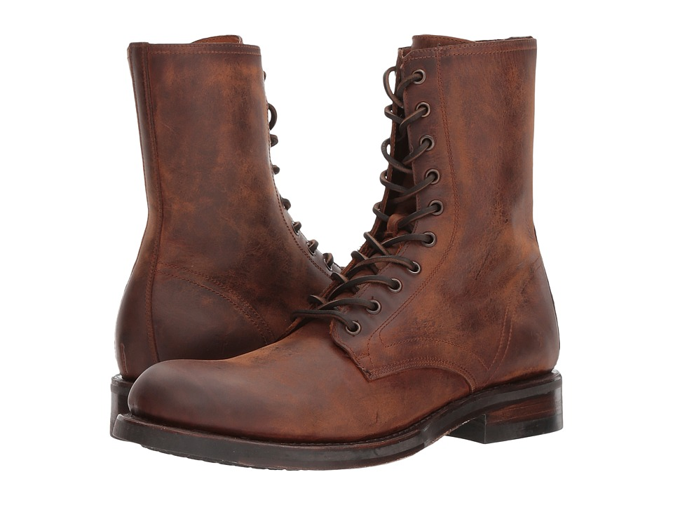 Frye Folsom Combat (Redwood Waterproof Smooth Pull Up) Men
