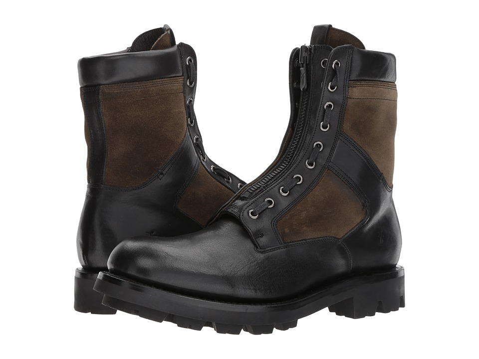 Frye Jump Boot (Black Multi Pressed Full Grain/Waterproof...