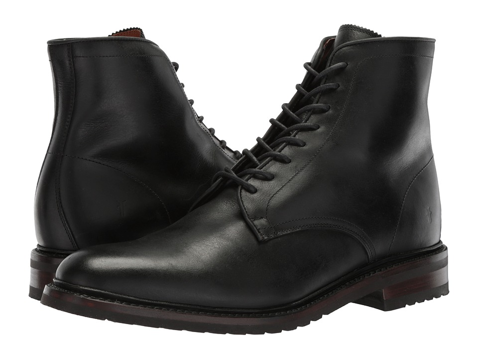 Frye Jones Lace-Up (Black Waterproof Smooth Pull Up) Men