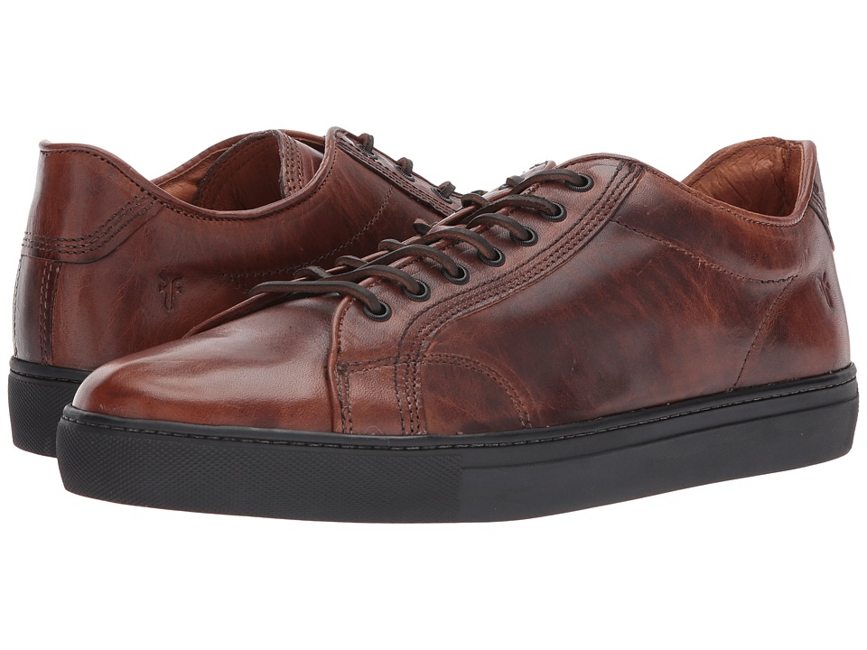 Frye - Walker Low Lace (Cognac Vintage Pull Up) Mens Lace up casual Shoes
