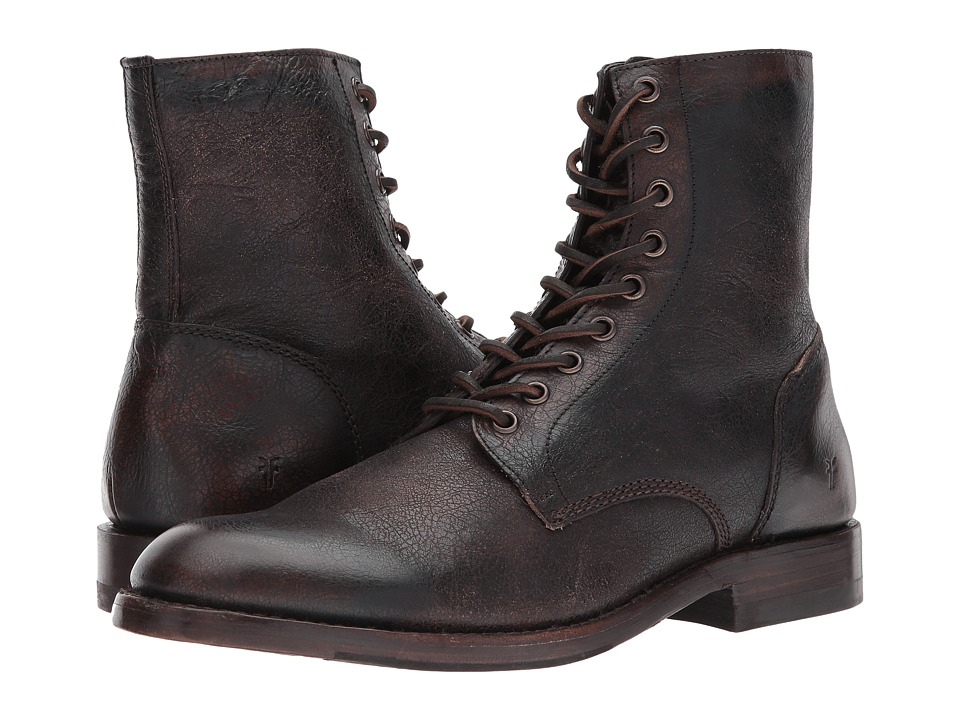 Frye - Will Lace-Up (Dark Brown Vintage Pull Up) Mens Boots