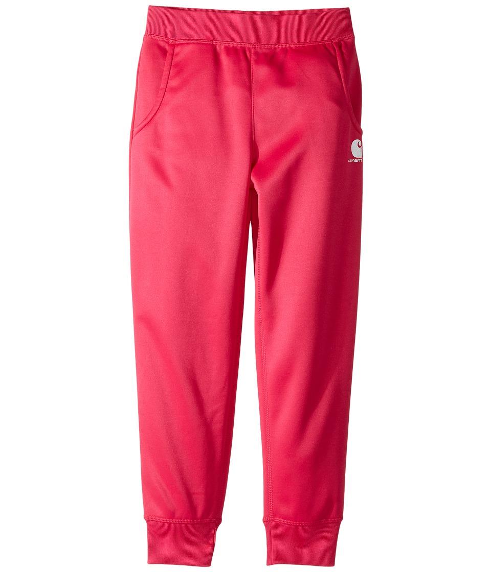 Carhartt Kids - Force Fleece Pants (Little Kids) (Bright Pink) Girls Casual Pants