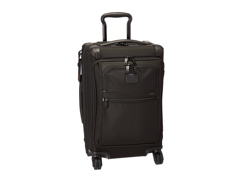 Tumi Alpha 2 Front Lid International Carry-On (Black) Carry on Luggage