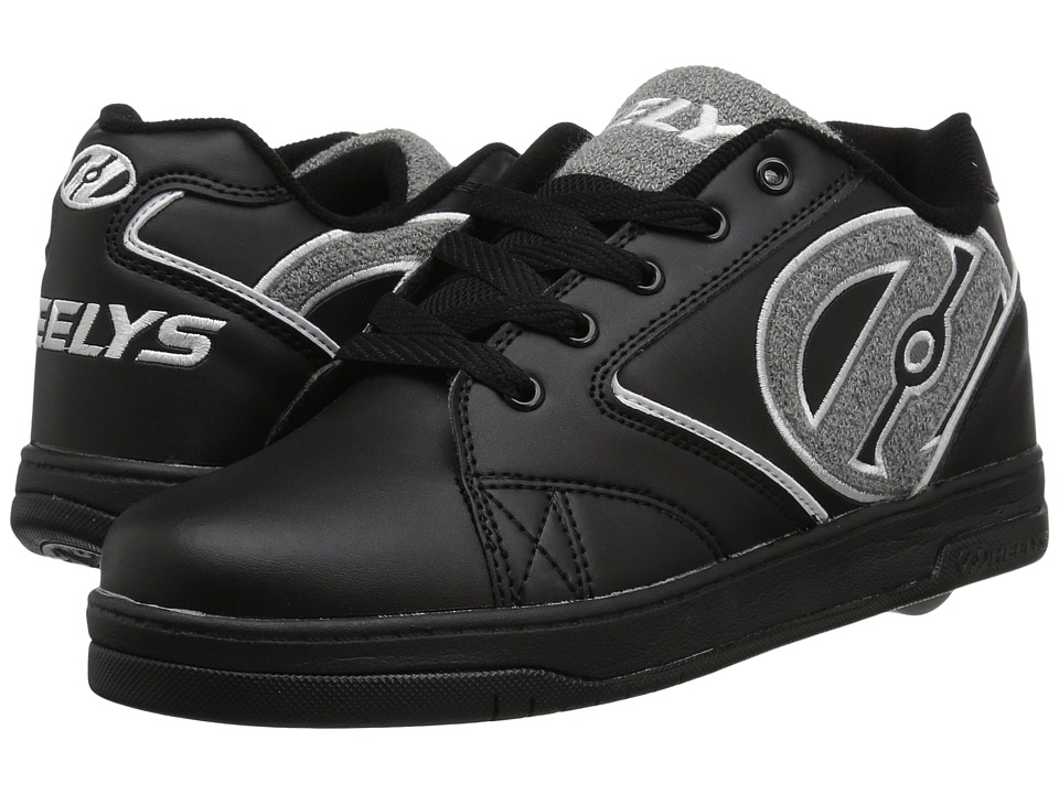 Heelys Propel Terry (Little Kid/Big Kid/Adult) (Black/Grey) Boys Shoes