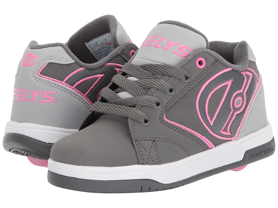 Heelys - Propel 2.0 (Little Kid/Big Kid/Adult) (Charcoal/Grey/Pink) Kids Shoes
