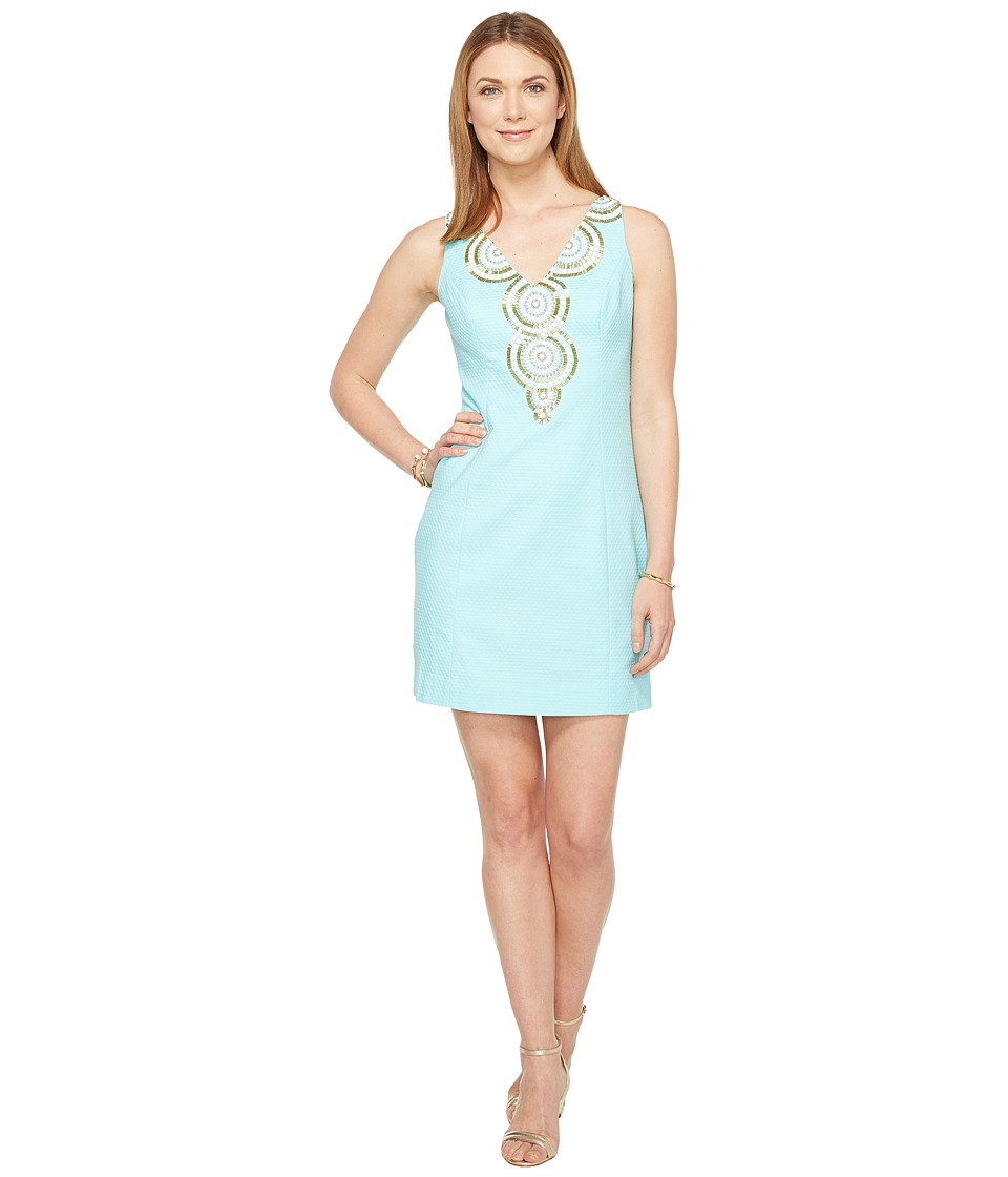 Lilly Pulitzer Gabby Shift Dress (Serene Blue) Women