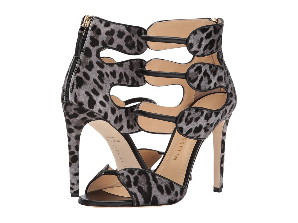 CHLOE GOSSELIN Larkspur Calf Suede Heel (Cheetah Grey) High Heels